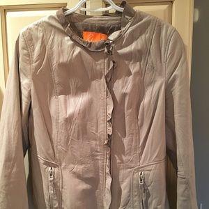 Greige Leather Jacket Danier Excellent Condition